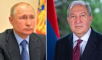 Президент Саркисян направил поздравительное послание Владимиру Путину по случаю его дня рождения