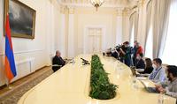 Начатая Азербайджаном война имеет целью этнические чистки. Президент Армен Саркисян встретился с представителями российских средств массовой информации