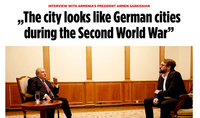 Stepanakert today resembles German towns during WWII. President Armen Sarkissian's interview to Bild