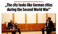 Степанакерт сегодня похож на города Германии времён Второй мировой войны. Интервью Президента Армена Саркисяна германскому периодическому изданию «Bild»