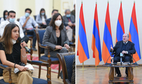Artsakh will win, as in our case the victory is to defend our own homes, values and heritage. President Armen Sarkissian met with public figures and journalists from the Diaspora and foreign countries