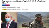 Ни у кого не должно быть иллюзий, что может решить вопрос силой – интервью Президента Армена Саркисяна La Libre Belgique