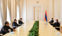 President Armen Sarkissian met with Vahram Baghdasaryan and Eduard Sharmazanov members of the executive body of the Republican Party of Armenia and Hayk Mamijanyan, the leader of the RPA youth organization