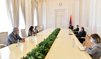 """President Armen Sarkissian met with the representatives of """"My Step"""" parliamentary faction"""