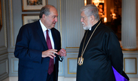 President Armen Sarkissian had a telephone conversation with Aram I, Catholicos of the Great House of Cilicia