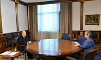 President Sarkissian met with the Head of the EU Delegation to Armenia, Ambassador Andrea Victorin