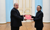 We have proved that we can be good partners. The newly-appointed Ambassador of China to Armenia presented his credentials to President Armen Sarkissian