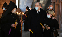 A commemoration ceremony of the heroes who died for their homeland in the Armenian churches of the world