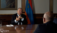 "If the state and people manage to stand firmly on the ground, the whole world will respect us. The President of the Republic Armen Sarkissian's exclusive interview to ""Aravot"" daily"