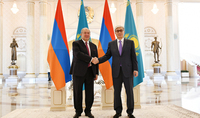 President Armen Sarkissian congratulated the President of Kazakhstan on Independence Day