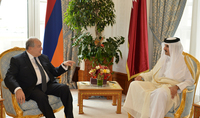 President Armen Sarkissian congratulated the Emir of Qatar on the National Day of the Country