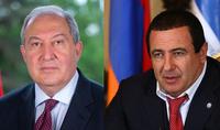 Президент Армен Саркисян встретился с руководителем фракции НС «Процветающая Армения» Гагиком Царукяном