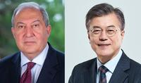 Հանրապետության նախագահ Արմեն Սարգսյանին Ամանորի և Սուրբ Ծննդի տոների առթիվ շնորհավորել է Կորեայի նախագահը