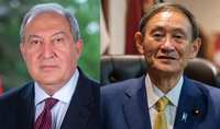Ճապոնիայի վարչապետը շնորհավորել է նախագահ Արմեն Սարգսյանին Ամանորի և Սուրբ ծննդյան տոների առթիվ