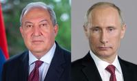 RF President Vladimir Putin has congratulated President of Armenia Armen Sarkissian on the New Year and Christmas