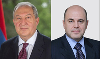 RF Prime Minister Mishustin has congratulated President Armen Sarkissian on the New Year and Christmas