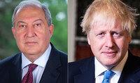 Президента Армена Саркисяна поздравил с праздниками Нового года и Святого Рождества Премьер-министр Соединённого Королевства Борис Джонсон