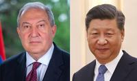 Le président de la Chine a souhaité au président Armen Sarkissian un rétablissement rapide