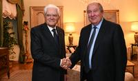 Le président italien Sergio Matarella a souhaité au président Armen Sarkissian un rétablissement rapide