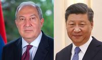Le président Sarkissian a envoyé un message de félicitations au président chinois Xi Jinping à l'occasion du Nouvel An chinois