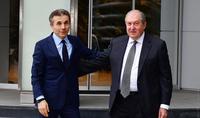Президент Армен Саркисян поздравил Бидзину Иванишвили с 65-летием