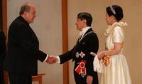 Le Président Armen Sarkissian a félicité l'Empereur du Japon à l'occasion de la fête nationale japonaise