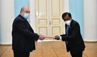 Le nouvel ambassadeur du Sri Lanka en Arménie a présenté ses lettres de créance au Président Armen Sarkissian