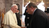 В этот тяжёлый для нас период мы благодарны за молитвы и мирные послания Вашего Святейшества – Президент Армен Саркисян направил поздравительное послание Папе Римскому Франциску