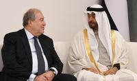 Le Président Armen Sarkissian a félicité le Cheikh Mohammed ben Zayed Al Nahyane, prince héritier de l'Emirat d'Abu Dhabi, à l'occasion de son 60e anniversaire