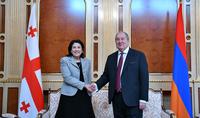 Le Président Armen Sarkissian a félicité la Présidente géorgienne Salomé Zourabichvili pour son anniversaire