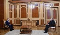"President Armen Sarkissian met with Artak Tovmasyan, Representative of the ""Third Force"" Civic Initiative, Head of the Tovmasyan Foundation"