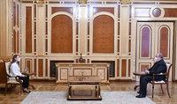 Նախագահ Արմեն Սարգսյանը հանդիպել է ԱԺ «Իմ քայլը» խմբակցության ղեկավար Լիլիթ Մակունցի հետ