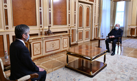 Le Président Armen Sarkissian a reçu l'Ambassadeur du Japon en Arménie Jun Yamada