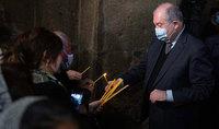 Les voeux du Président de la République Armen Sarkissian à l'occasion de la Commémoration de la résurrection de Jésus-Christ