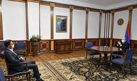 Le Président Armen Sarkissian a rencontré le PDG fondateur de FAST, Armen Orujyan