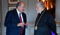 Президент Саркисян поздравил Католикоса Великого Дома Киликийского Арама I с Праздником Воскресения