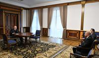 Le Président Armen Sarkissian a reçu le Président de la Banque Centrale de la République d'Arménie