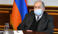 Le Président Armen Sarkissian a reçu le Président du Conseil supérieur de la magistrature Ruben Vardazaryan