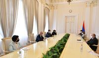Le Président Armen Sarkissian a rencontré les responsables de plusieurs organisations journalistiques