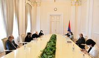 Le président Armen Sarkissian a reçu la délégation de l'Union des journalistes d'Arménie