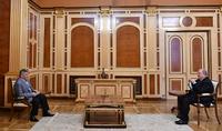 Le président Armen Sarkissian a reçu Ara Abrahamyan, le président de l'Union des Arméniens de Russie