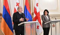 Վրաստանի հետ մեր հարաբերությունների ամրապնդումն ինչպես մեր երկրների, այնպես էլ տարածաշրջանի անվտանգության և զարգացման կարևոր նախադրյալներից է. Հայաստանի և Վրաստանի նախագահները հանդես են եկել մամուլի համար հայտարարությամբ