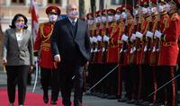 La cérémonie d'accueil officielle du Président de la République d'Arménie a eu lieu à la résidence du Président de la Géorgie