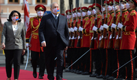 The official welcoming ceremony of the President of the Republic of Armenia took place at the Residence of the President of Georgia