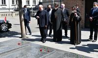 Президент Республики Армен Саркисян посетил Кафедральную церковь Св.Георгия Грузинской епархии ААЦ