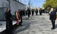 President Armen Sarkissian visited the Heroes' Square in Tbilisi