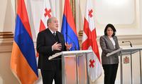Le renforcement de nos relations avec la Géorgie est l'une des conditions préalables importantes pour la sécurité et le développement de nos deux pays et de la région. Les Présidents d'Arménie et de Géorgie ont fait une déclaration à la presse