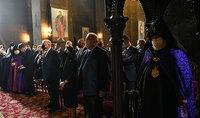 Նախագահ Արմեն Սարգսյանը Մայր Աթոռ Սուրբ Էջմիածնում ներկա է գտնվել կիրակնօրյա պատարագին և Վարդան Գրեգորյանի հիշատակին մատուցված հոգեհանգստյան կարգին