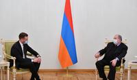 L'Arménie et la Lituanie ont un grand potentiel de coopération. Le Président Armen Sarkissian a reçu le Ministre des Affaires étrangères de la Lituanie
