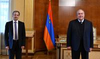 Նախագահ Արմեն Սարգսյանն ընդունել է ՖԻԴԵ-ի նախագահ Արկադի Դվորկովիչին